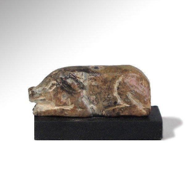 Near Eastern Steatite Wild Boar Amulet, 2000 BC - 2