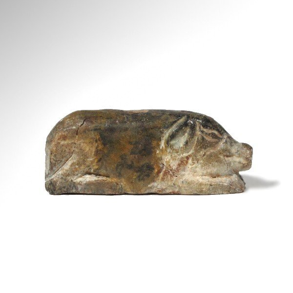 Near Eastern Steatite Wild Boar Amulet, 2000 BC - 4