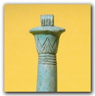 Egyptian Blue Faience Amulet of a Papyrus Sceptre - 4