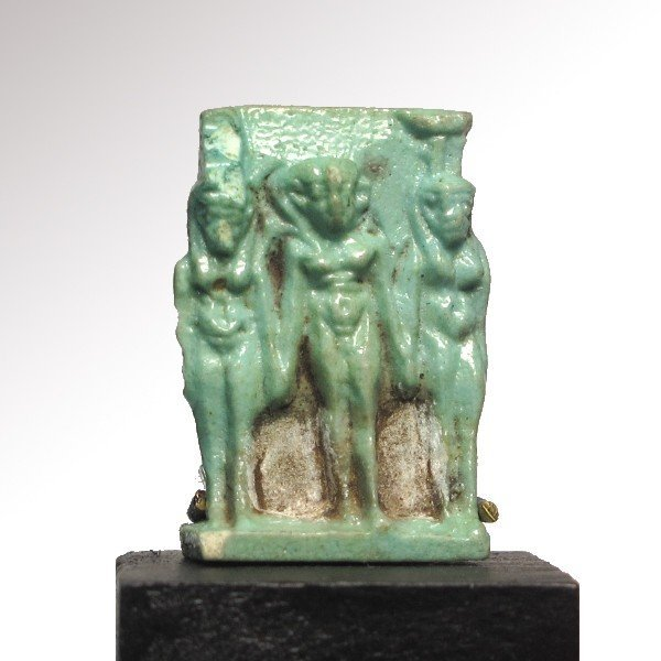 Turquoise Faience Triad Amulet , c.500 B.C. - 2