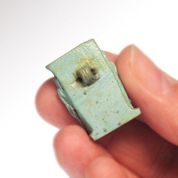 Turquoise Faience Triad Amulet , c.500 B.C. - 5