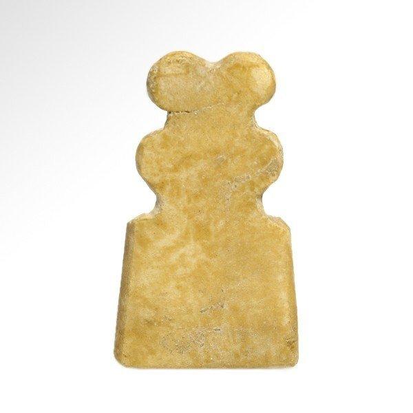 Marble Tell Brak Eye Idol with Child,4th Millennium BC - 3