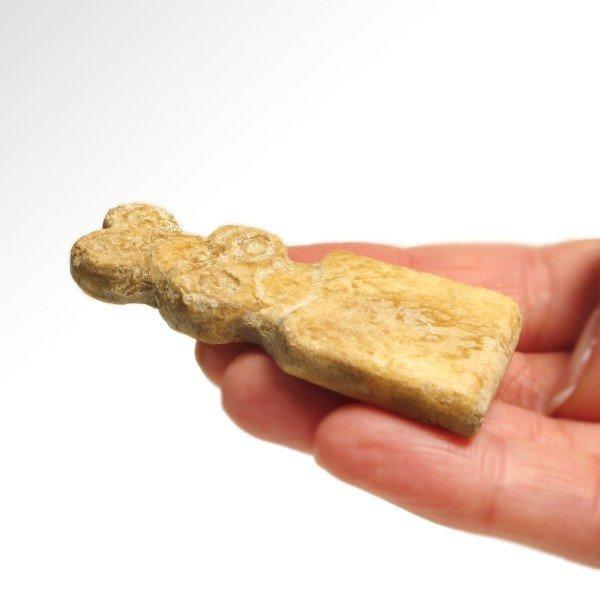 Marble Tell Brak Eye Idol with Child,4th Millennium BC - 4