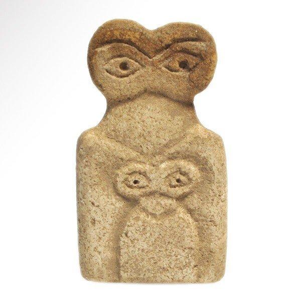 Marble Tell Brak Eye Idol with Child, 4th Mill. BC - 2