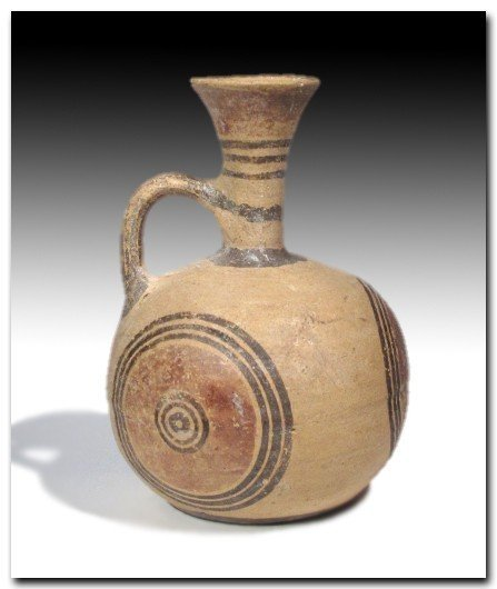 Cypriot Painted Terracotta Jug, Iron Age c. 900 B.C. - 2