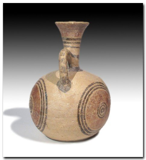 Cypriot Painted Terracotta Jug, Iron Age c. 900 B.C. - 5
