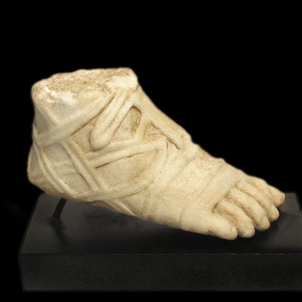 Roman Marble Foot with Sandal, c. 2nd-3rd Century A.D. - 2