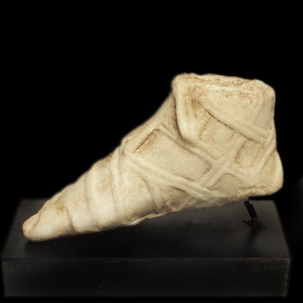 Roman Marble Foot with Sandal, c. 2nd-3rd Century A.D. - 4