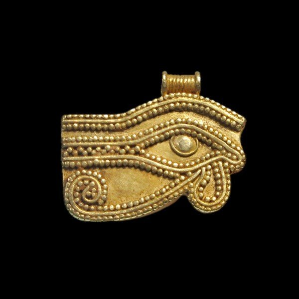 Egyptian Gold Eye Amulet Pendant, c. 900 B.C. - 2