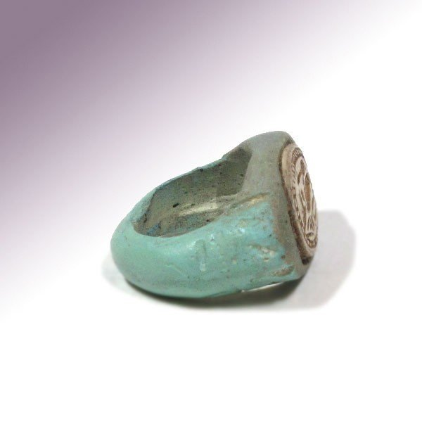 Egyptian Faience & Steatite Ring, c. 1500 B.C. - 5