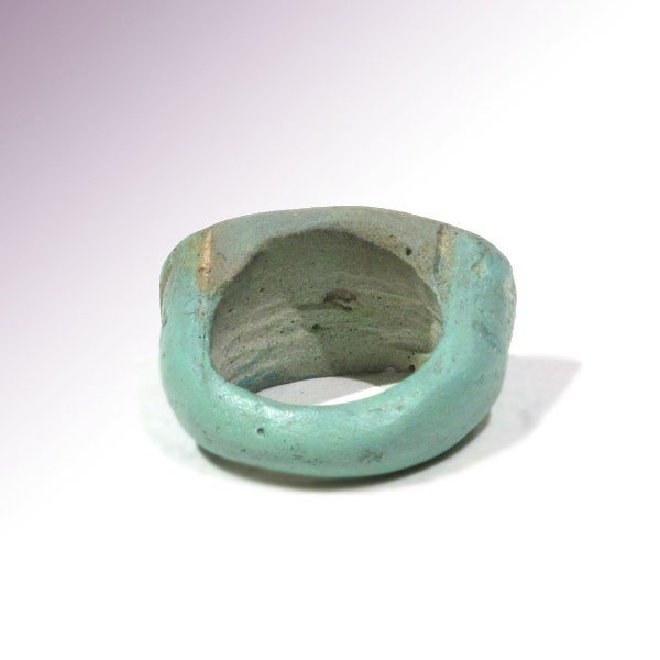 Egyptian Faience & Steatite Ring, c. 1500 B.C. - 6