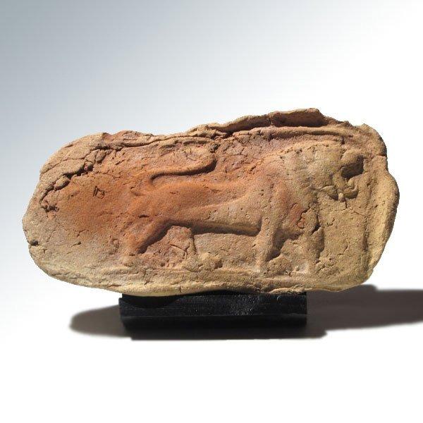 Sumerian Terracotta Plaque with Lion, c. 2000 B.C.