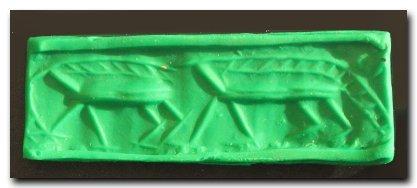 Early Sumerian Cylinder Seal, Uruk/Jemdet Nasr Period, - 2