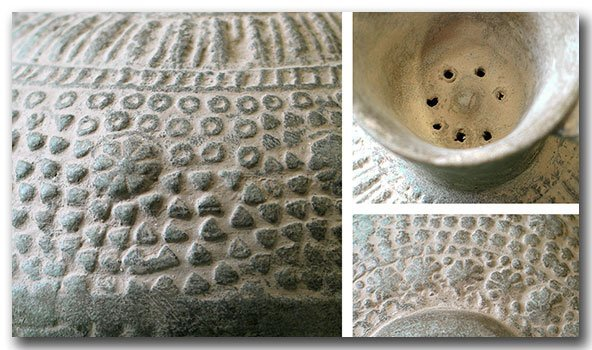 Unglazed Moulded Pottery Jug, Syria, c. 12th Century - 4
