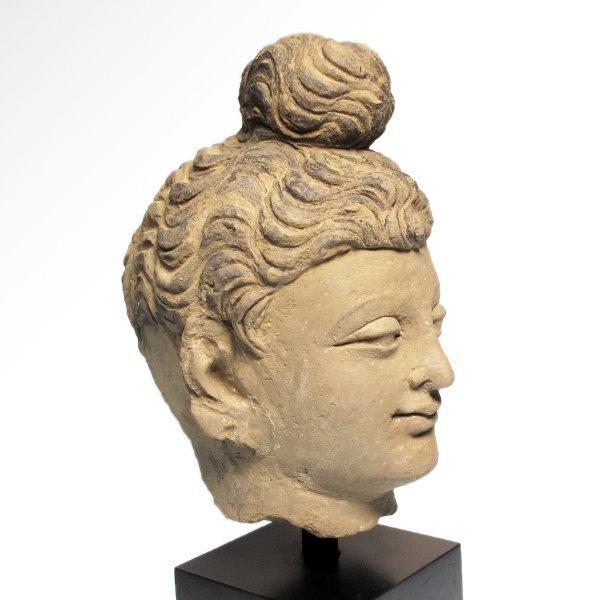 Painted Stucco Buddha Head, Gandhara, c. 2nd - 3rd - 5
