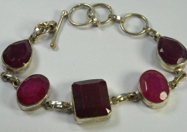 """104: 42.56 Ct Natural Ruby Bracelet 7-8"""""""