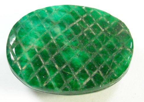 107: 80.48 ct Carved Natural Emerald Loose Gemstone