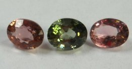 123: 3 Pieces Loose Tourmaline, Pink and Green Parcel