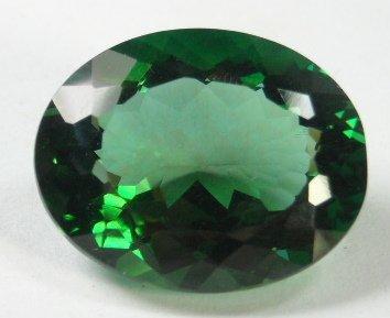 257: 14.78 ct Green Quartz Loose Gemstone