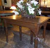 Victorian Oak Kitchen Table W Center Piece