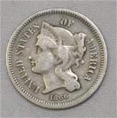 1866 Nickel Three-Cent Piece