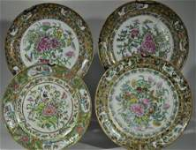 """4) Chinese Export Plates """"Thousand Butterflies"""""""