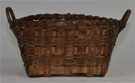 Native American Antique Splint Basket