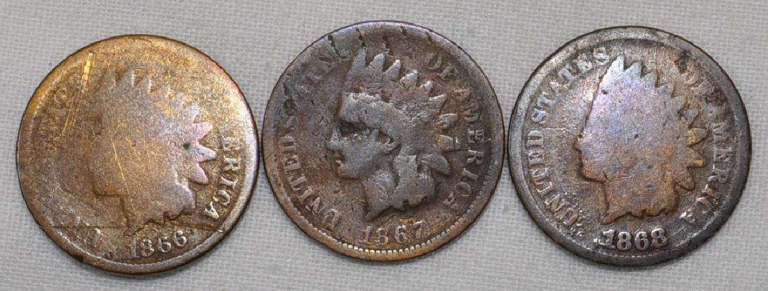 1866 / 1867 / 1868 Indian Head Cents