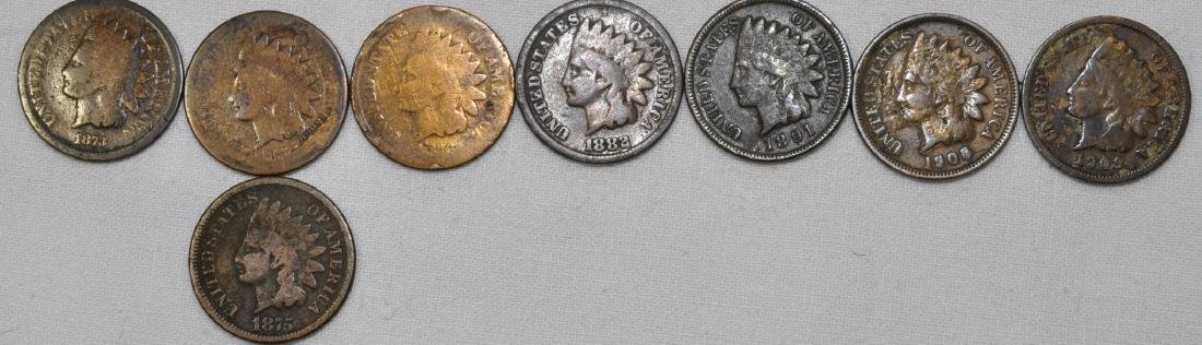 8) Indian Head Cents