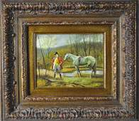Original Steeplechase Painting