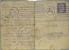Ostarbeiter Postcard Dated 1943
