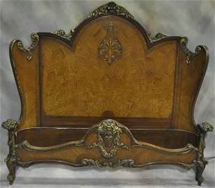 French Beaux Arts Walnut Bed