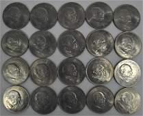 20) 1965 Winston Churchill Commemorative Crowns