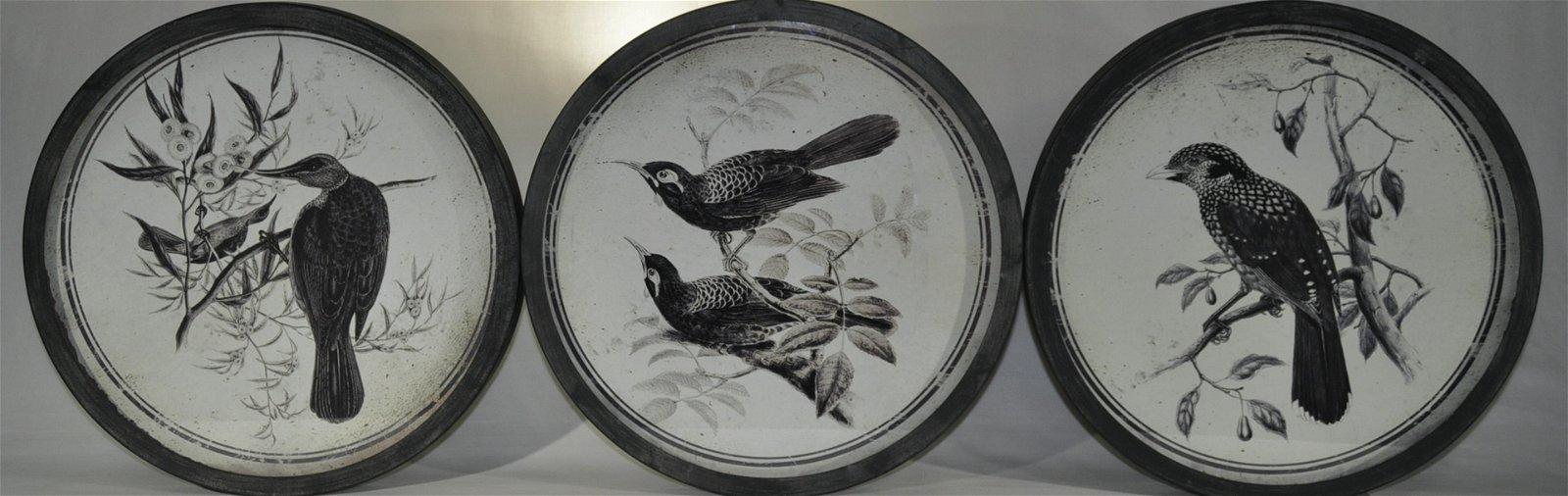 Decorative Songbird wall Plaques / Set Of 3