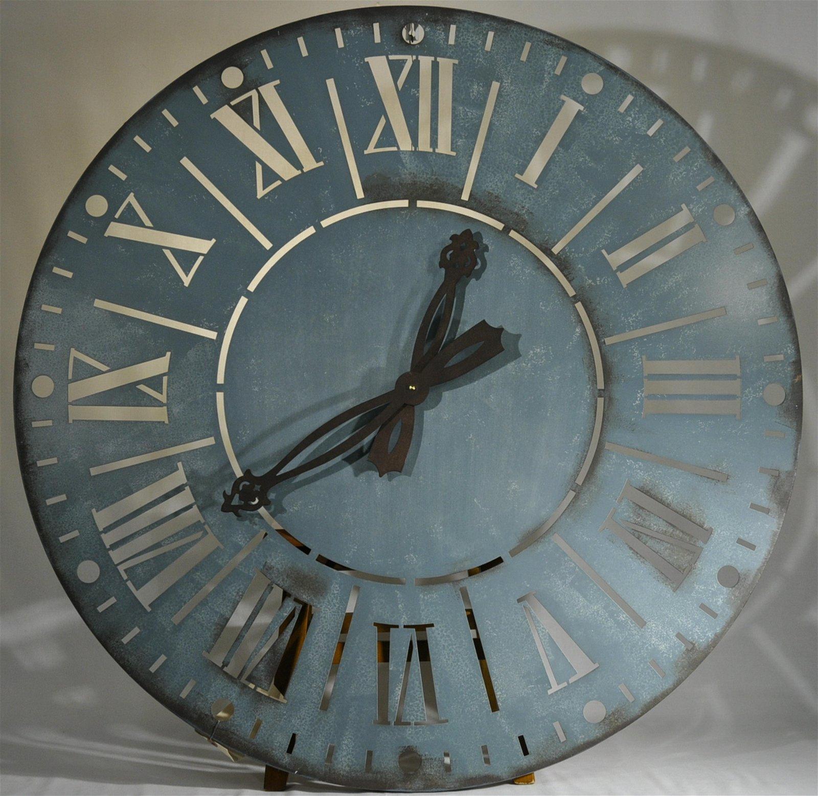 Rustic Chic Oversized Metal wall Clock