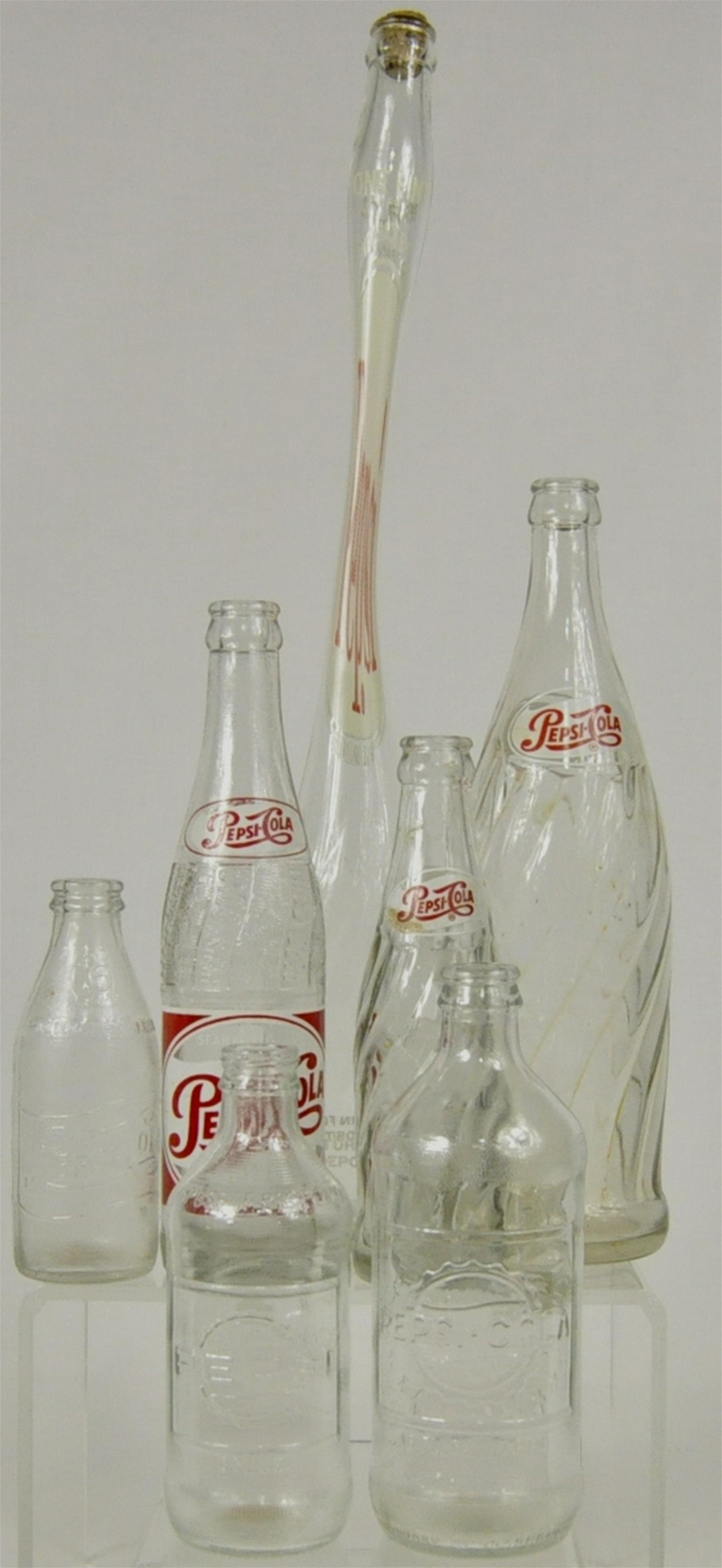 7) Collectible Pepsi Cola Bottles