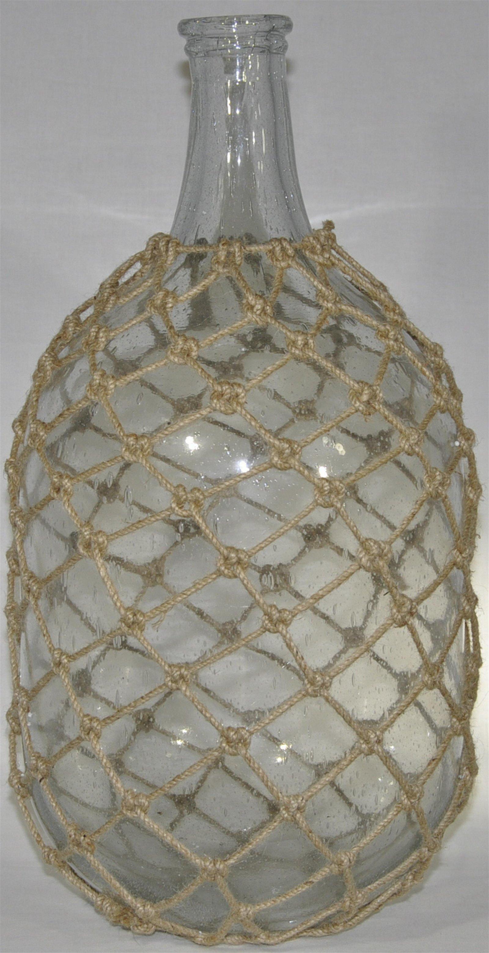 Oversized Decorative Glass Jug With Jute Netting