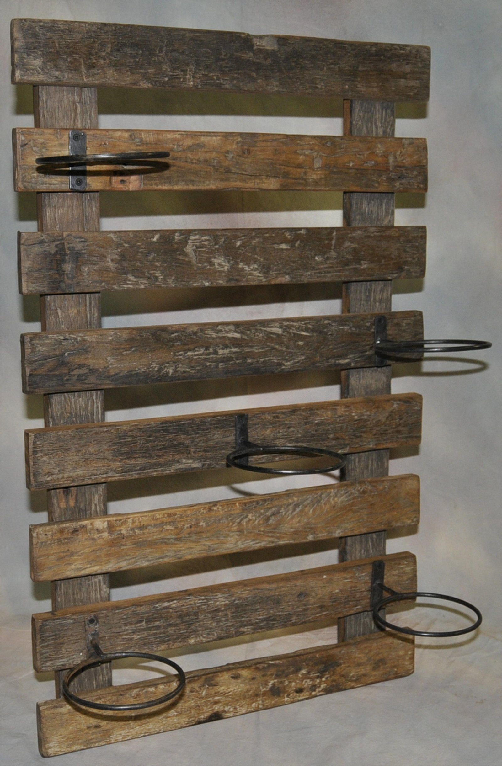 Salvage Wood Potted Plant Holder / wall Mount