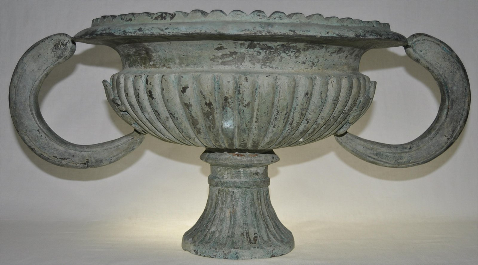Heavily Cast Archaic Form Bronze Urn