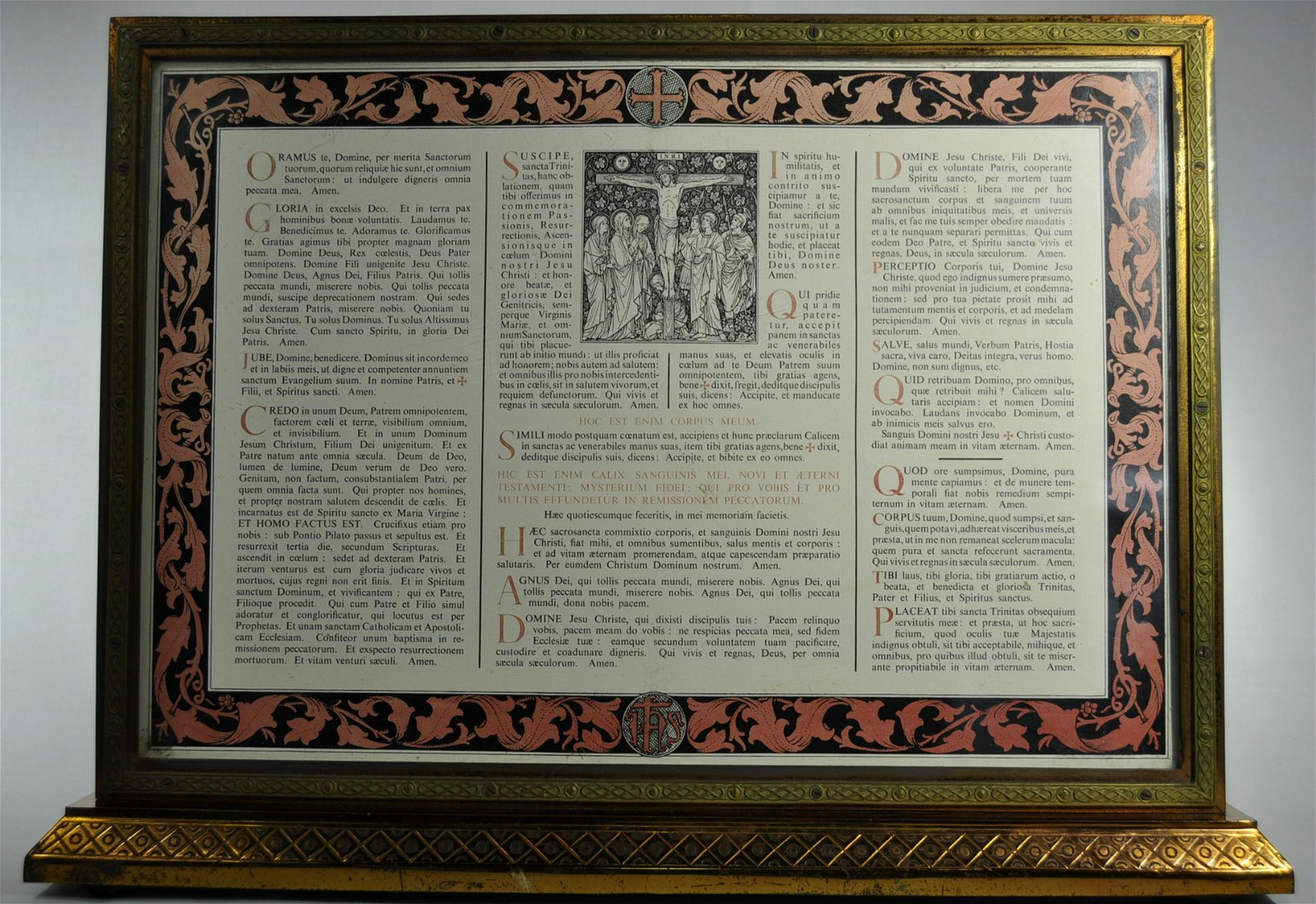 Gunning & Son Ltd. Framed Tridentine Altar Card