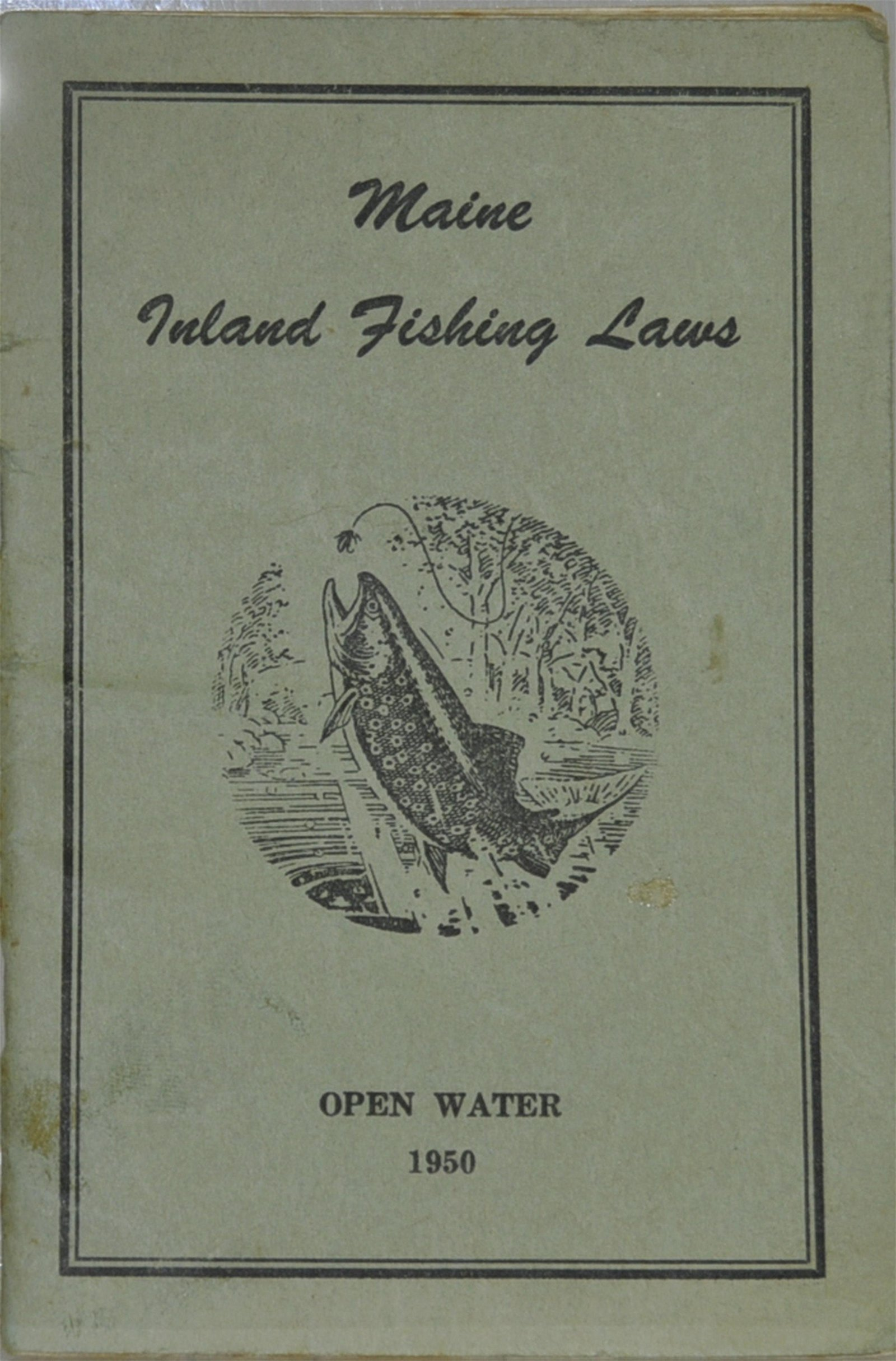"""1950 """"Maine Inland Fishing Laws"""" Booklet"""