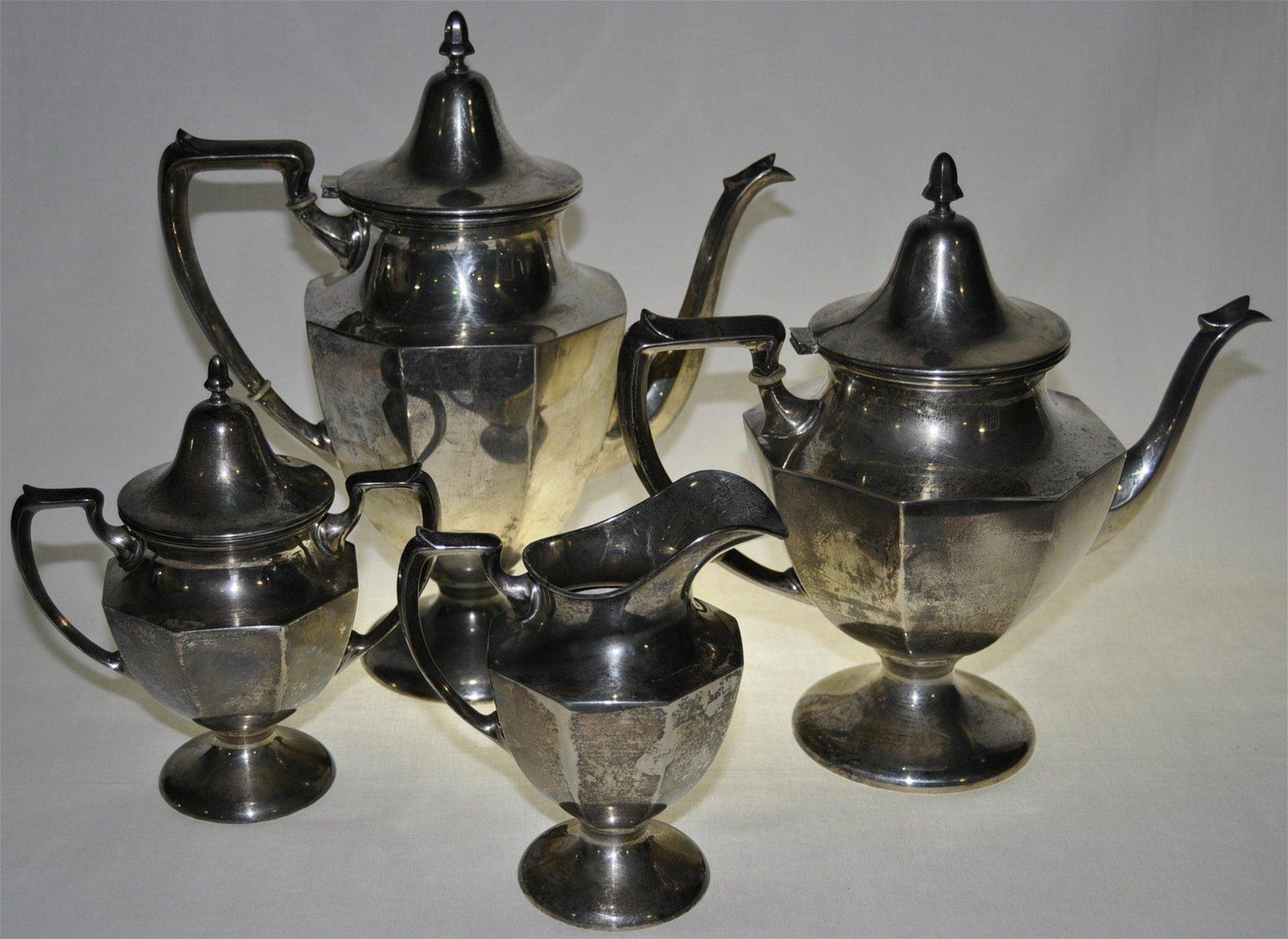 Artcraft Sterling Coffee & Tea Service