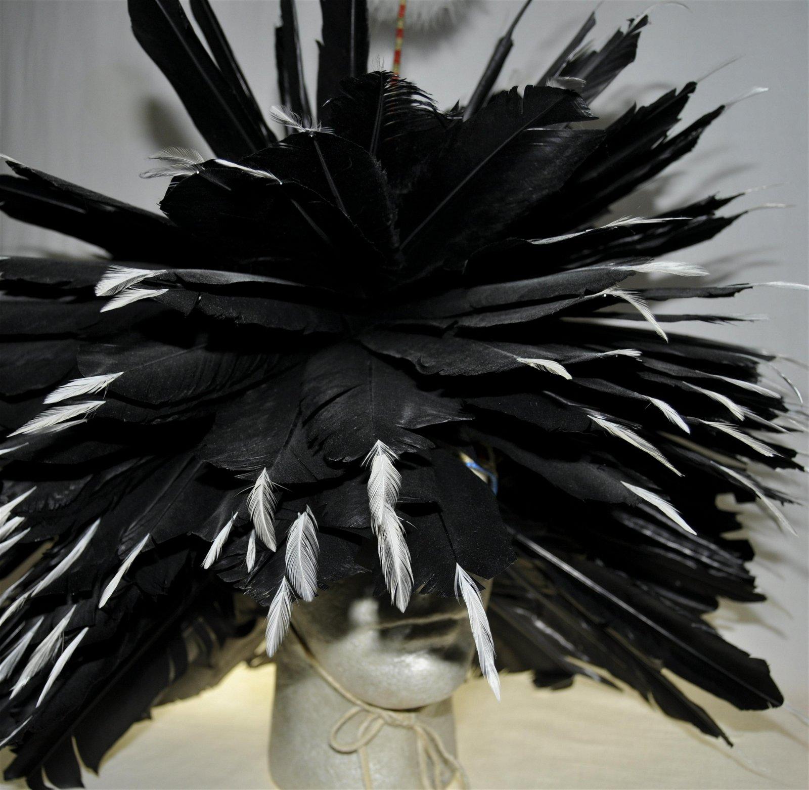 Modern Dog Soldier Feather Headdress