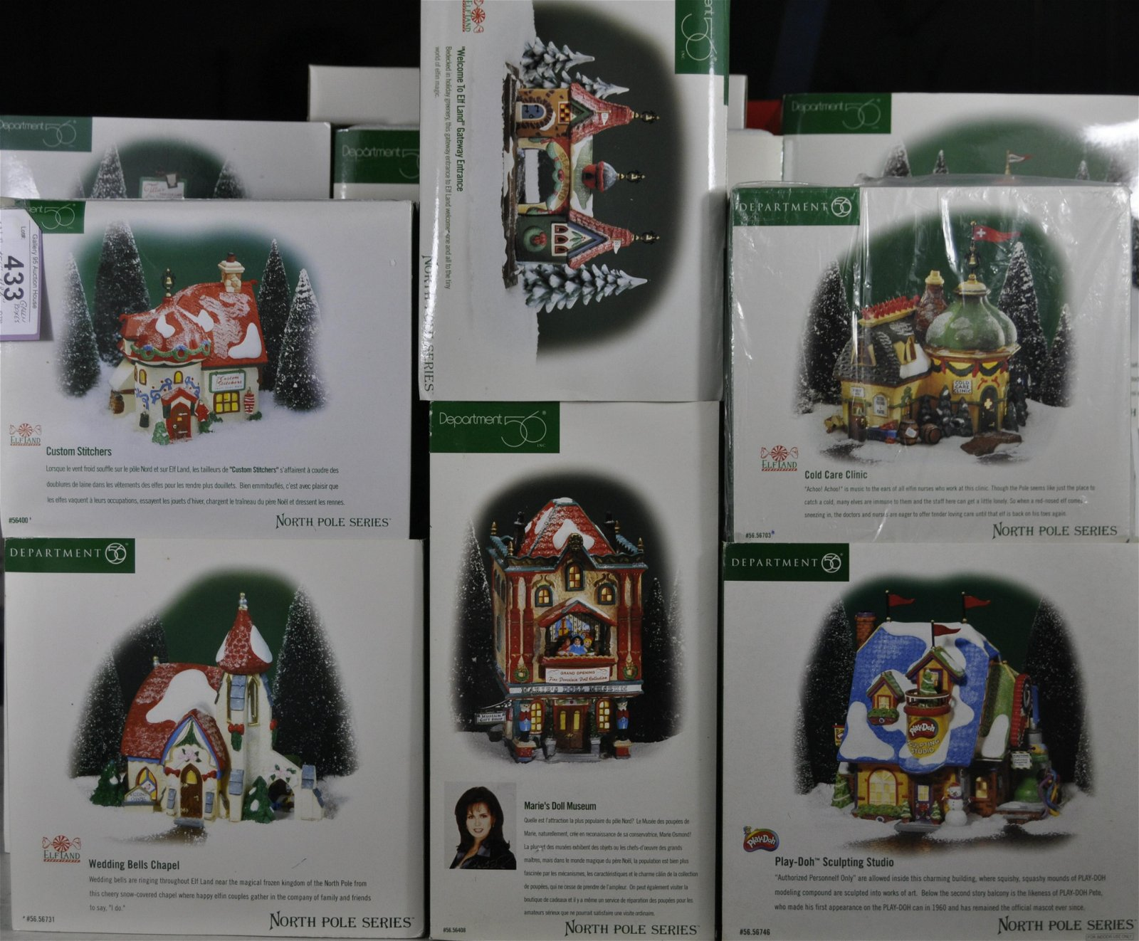 "12 Green Box Dept. 56 ""North Pole Series"""
