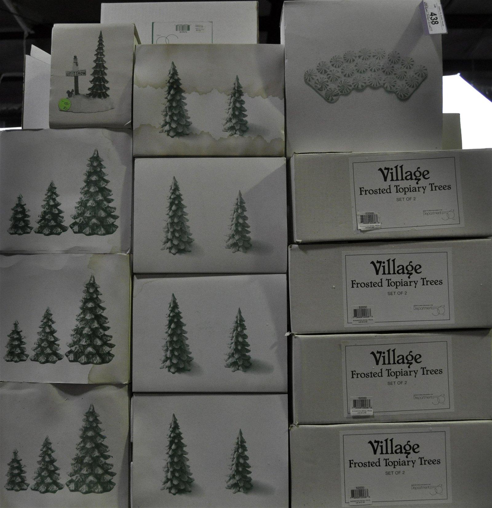 "28 Boxed Dept. 56 ""Village"" Accessories"