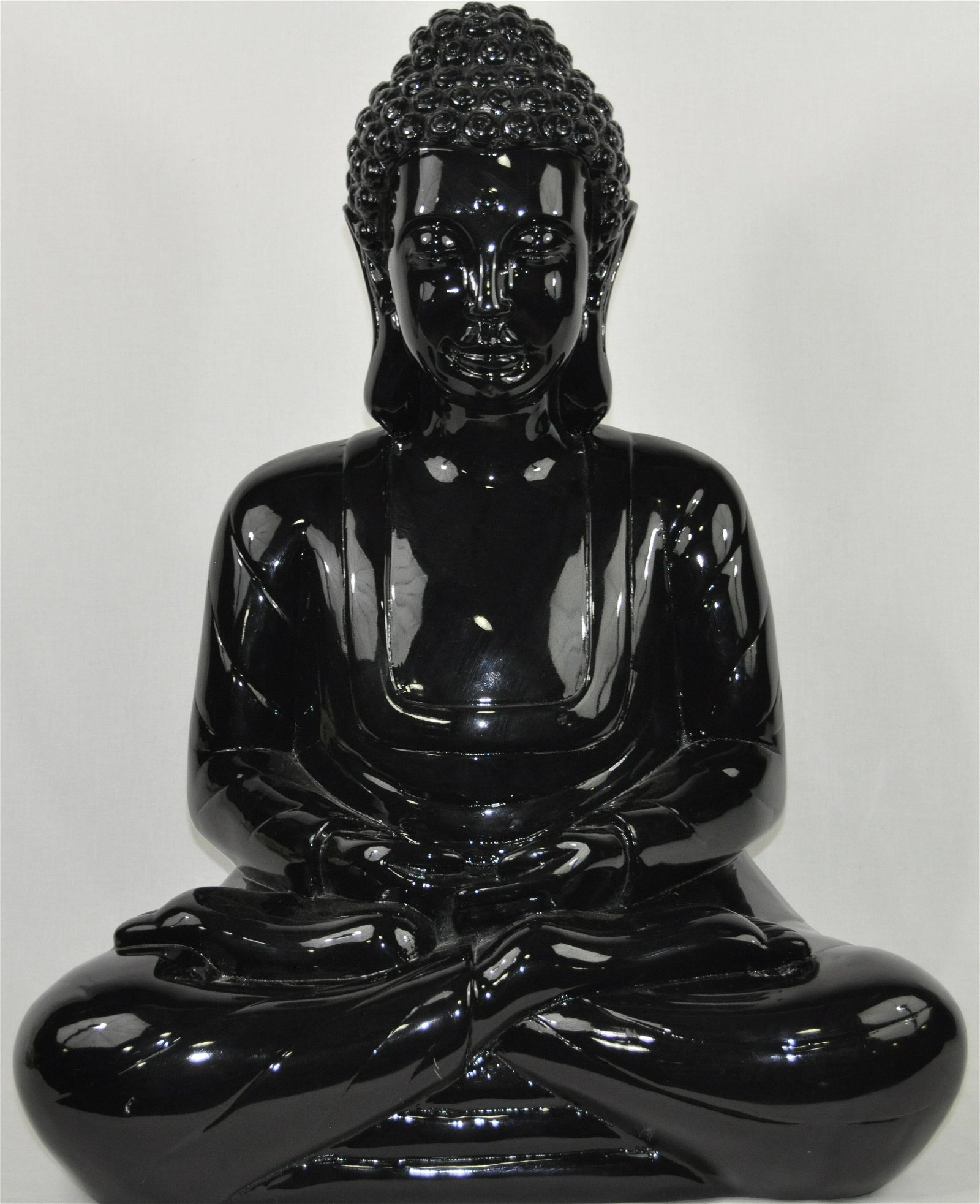 Large, Decorative Cast Resin Buddha