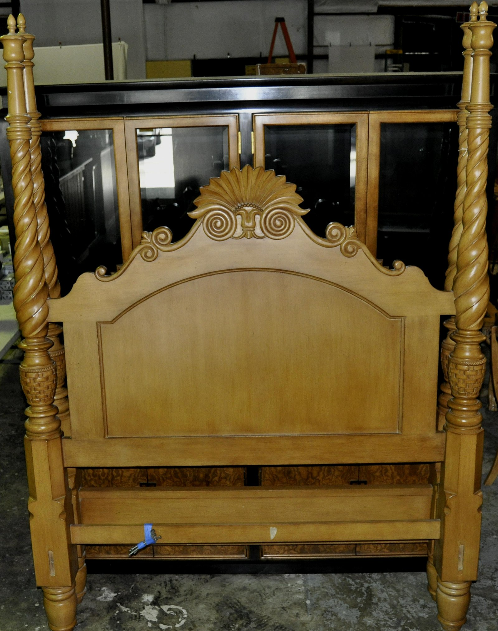 Anglo-Indian Style Full Size Bed