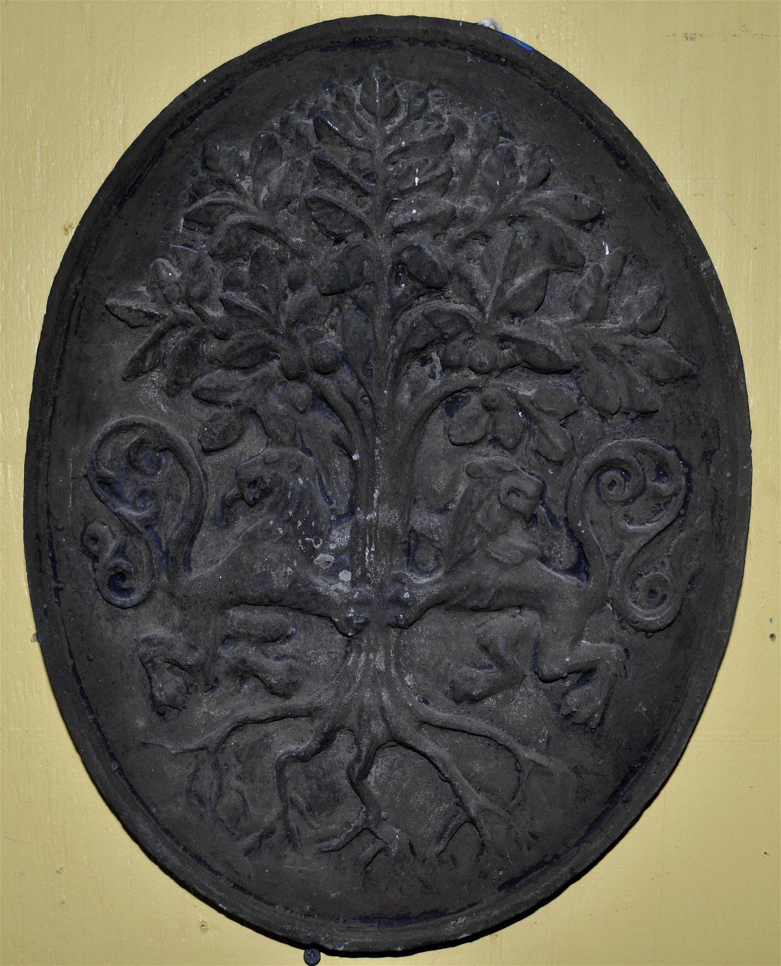 Heraldic Terracotta Wall Plaque