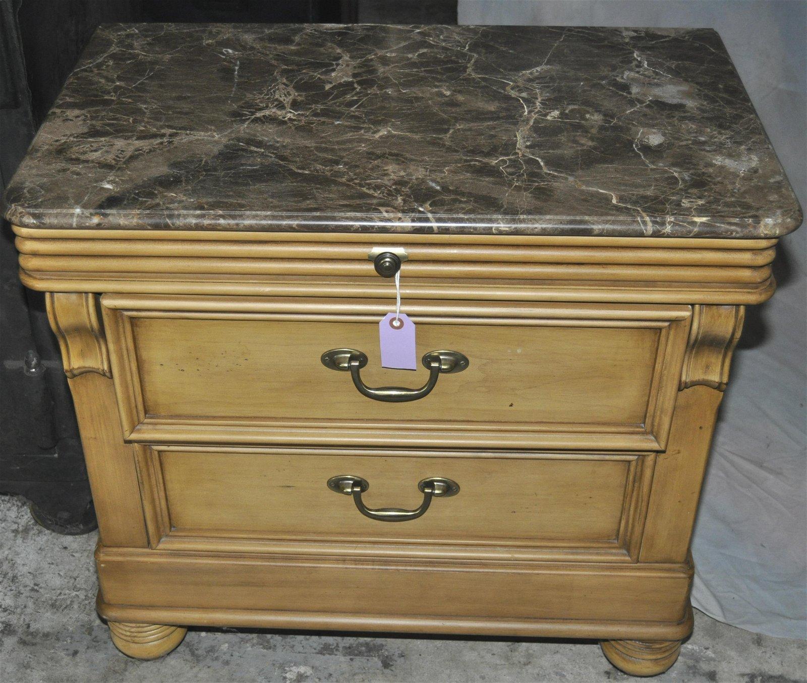 Lexington-Nautica Marble Top Bedside Chest