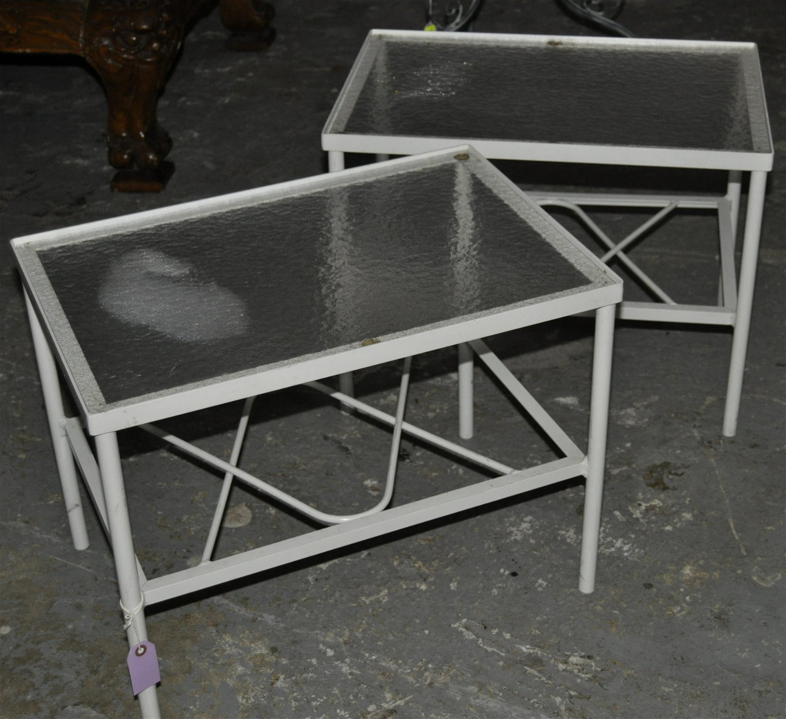 A Pair of Welded Aluminum Patio tables